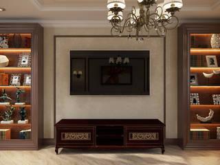 Проект 008: кинозал + кухня + игровая: Медиа комнаты в . Автор – студия визуализации и дизайна интерьера '3dm2', Классический