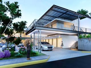 인더스트리얼 발코니, 베란다 & 테라스 by ANGOLO-grado arquitectónico 인더스트리얼