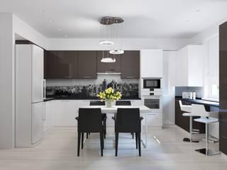 Квартира для современной пары: Кухни в . Автор – Оксана Мухина