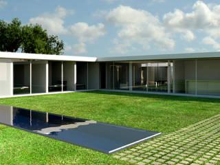 Residência Estância Quintas da Alvorada: Casas  por MeiaUm Arquitetos