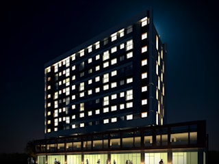 URBAN 320 Casas modernas por MeiaUm Arquitetos Moderno