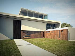 Residência MTZ: Casas  por MeiaUm Arquitetos