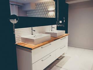 LOFT BORDEAUX Salle de bain moderne par ATELIER ARTEFAKT Moderne