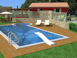 Cottage in Perugia's countryside Planet G Rustic style pool