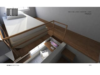 Flat refurbishment and conversion by MCMM:  Bedroom by MCMM Architettura