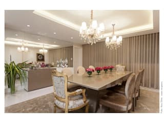 Casa Alphaville: Sala de jantar  por Vanja Maia - Arquitetura e Interiores