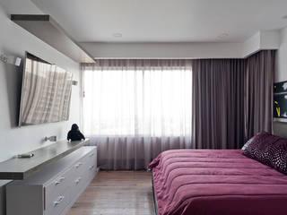 DEPARTAMENTO EN CUERNAVACA: Recámaras de estilo  por HO arquitectura de interiores