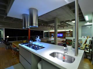HECHER YLLANA ARQUITETOS Industrial style kitchen