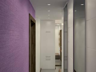 Симуков Святослав частный дизайнер интерьера Ingresso, Corridoio & Scale in stile minimalista Viola/Ciclamino