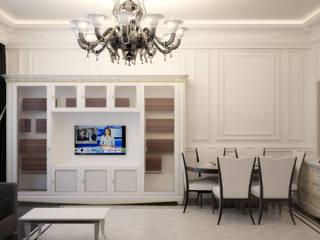 Симуков Святослав частный дизайнер интерьера Classic style living room White