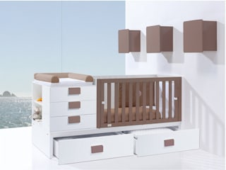 Clip Convertible Cot Bed Brown (K506): modern  by Casa bebé, Modern