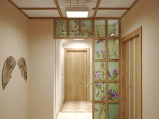 Симуков Святослав частный дизайнер интерьера Asian style corridor, hallway & stairs Beige
