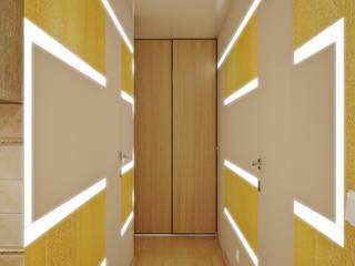 Симуков Святослав частный дизайнер интерьера Pasillos, vestíbulos y escaleras de estilo mediterráneo Amarillo