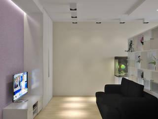 Симуков Святослав частный дизайнер интерьера Minimalist living room Beige
