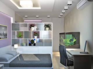 Симуков Святослав частный дизайнер интерьера Minimalist bedroom Beige