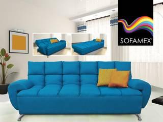 Sofá cama BOMBAY homify Salas/RecibidoresSofás y sillones Lino Azul