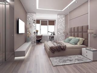 Dormitorios de estilo ecléctico de ООО 'Студио-ТА' Ecléctico