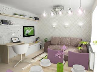 Однокомнатная квартира на улице Пушкинская Спальня в эклектичном стиле от Design Rules Эклектичный