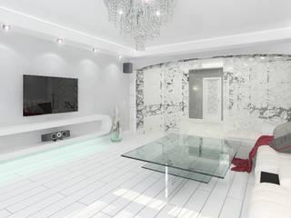 Трехкомнатная квартира в элитном жилом комплексе Гостиная в стиле минимализм от Design Rules Минимализм