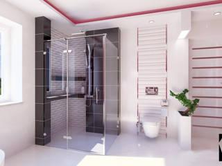 Katarzyna Wnęk 現代浴室設計點子、靈感&圖片 陶器 White