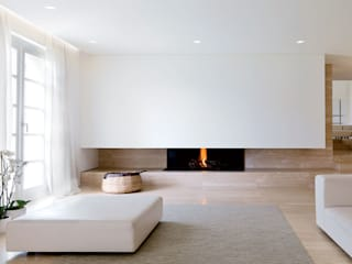 Reggiani SPA Illuminazione Гостиная в стиле минимализм Белый