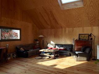 J'habite à Drancy, extension d'une maison Salon moderne par Atelier d'Architectures Fabien Gantois Moderne
