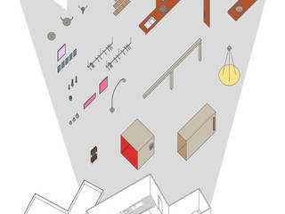 LES CHOSES, appartement par Atelier d'Architectures Fabien Gantois Moderne