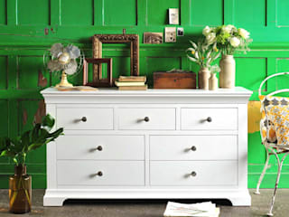 Chantilly White 3 over 4 Drawer Chest Cuartos de estilo rural de The Cotswold Company Rural Madera Acabado en madera