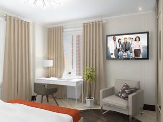 """Квартира в жилом комплексе """"Алиса"""" Спальня в эклектичном стиле от Design Rules Эклектичный"""
