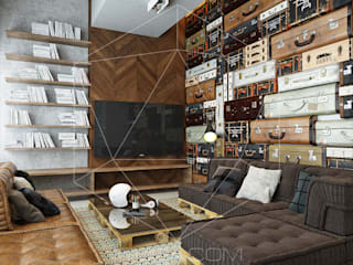 Industrial style living room by homify Industrial