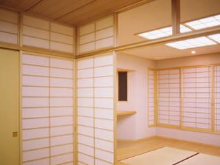 書家の家 和風デザインの リビング の 吉田設計+アトリエアジュール 和風