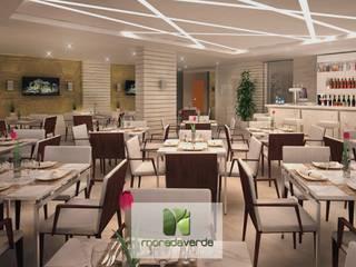 Tulip Inn Batel - Curitiba - PR Salas de jantar minimalistas por Moradaverde Arquitetura Ltda. Minimalista
