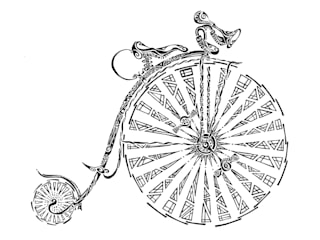 Penny farthing  bicycle:   by Emily Gunning