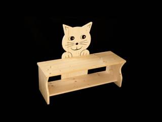 Kinderbank Katze:   von Kanaholz