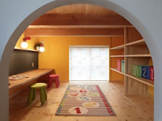 Sala multimediale in stile scandinavo di dwarf Scandinavo