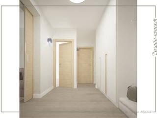 mlynchyk interiors Pasillos, vestíbulos y escaleras de estilo minimalista
