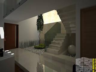Koridor dan lorong oleh HHRG ARQUITECTOS, Minimalis