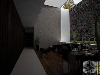 Living room by HHRG ARQUITECTOS