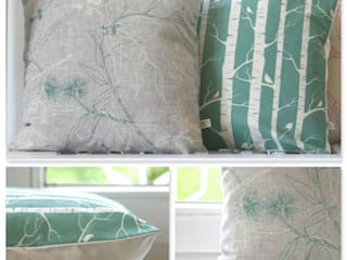 Kissen Collage - Robin Eggs: landhausstil Schlafzimmer von Koala Designs