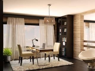 Private House Klasyczne domowe biuro i gabinet od Shtantke Interior Design Klasyczny