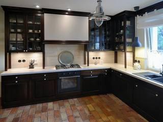ARTEMA PRACOWANIA ARCHITEKTURY WNĘTRZ ห้องครัว อิฐหรือดินเผา