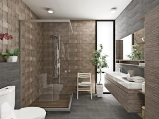 Estudio Meraki Modern style bathrooms
