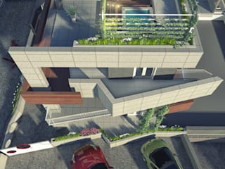 Concrea residenze: Terrazza in stile  di a5studio
