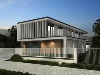 Dom jednorodzinny pod Poznaniem: styl , w kategorii Domy zaprojektowany przez Offa Studio,Nowoczesny