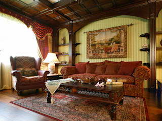 RRdesign Rustic style living room