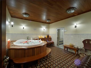 Баня в английском стиле Ванная комната в рустикальном стиле от RRdesign Рустикальный
