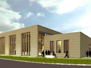 Erweiterung der Kongresshalle Neumünster, Wettbewerbsbeitrag:  Bürogebäude von Stadie + Stadie Architekten