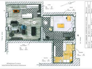 Aménagement et décoration d'un appartement duplex Maisons modernes par INSO'HOME Décoration Intérieure Moderne