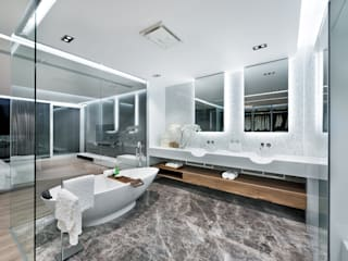 Magazine editorial - House in Sai Kung by Millimeter:  Bathroom by Millimeter Interior Design Limited, Modern