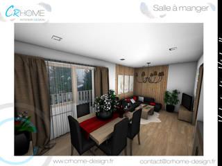 Valorisation Virtuelle - Appartement de montagne: Salle à manger de style  par Crhome Design